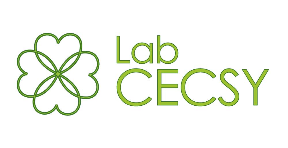 Logo du Lab CECSY, représenté par un trèfle à 4 feuilles, dont les feuilles sont liées entre elles, comme si elles se prenaient par les bras